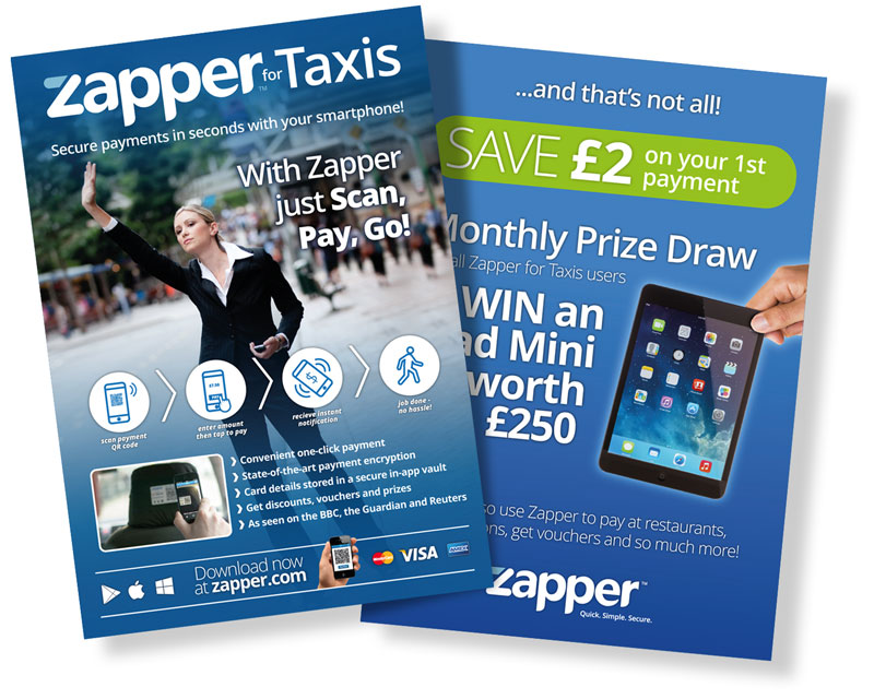 Zapper for Taxis flyer